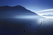 Morning Mist Prints - Lake Maggiore Print by Joana Kruse
