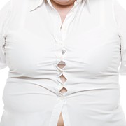 Overweight Woman Print by
