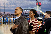 President Barack Obama And First Lady Print by Everett