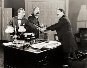 Agreement Posters - Silent Film Still: Offices Poster by Granger