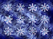 Walter Oliver Neal - 12 Silver Snowflakes
