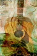 Energy Art Digital Art Prints - 12 String Print by Linda Sannuti