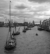 Barges Prints - Thames Barges Tower Bridge 2012 Print by David French