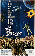 1960 Movies Framed Prints - 12 To The Moon, 1960 Framed Print by Everett