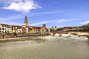 Stone Bridge Framed Prints - Verona Framed Print by Joana Kruse