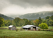 1209-1116 - Boxley Valley Barn Print by Randy Forrester