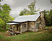 Log Cabins Art - 1209-1144 Historic Villines Homestead by Randy Forrester