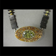 Brass Etching Jewelry - 124 Bamboo by Brenda Berdnik