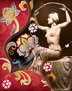 Burlesque Mixed Media Prints - Goddess Print by Chris Andruskiewicz