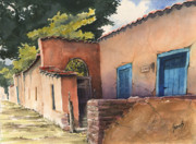 Santa Fe Paintings - 1247 Agua Fria Street by Sam Sidders