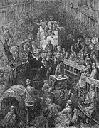 Crowd Scene Art - DorÉ: London: 1872 by Granger