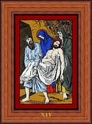 Icon  Glass Art Metal Prints - Drumul Crucii - Stations Of The Cross  Metal Print by Buclea Cristian Petru