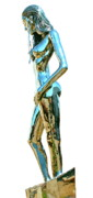 Steel Sculpture Metal Prints - Evolution of Eve IV Metal Print by Greg Coffelt