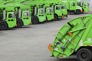 Garbage Truck Prints - Garbage Truck Fleet Print by Don Mason