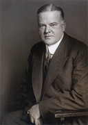 Mid-20th Framed Prints - Herbert Hoover (1874-1964) Framed Print by Granger