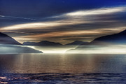 Morning Mist Photos - Lake Maggiore by Joana Kruse