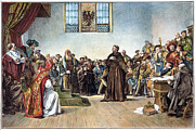 Trial Art - Martin Luther (1483-1546) by Granger