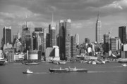 Wall City Prints Posters - New York City Skyline Poster by Frank Romeo