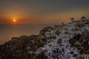 Mill Photo Prints - Oia - Santorini Print by Joana Kruse