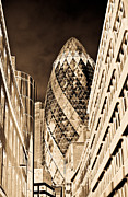 London England  Digital Art - The Gherkin London by David Pyatt