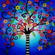 Blooming Paintings - Tree Of Life by Pristine Cartera Turkus