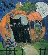 Nightime Paintings - 1313 Spooky Lane by Sylvia Pimental 