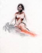 Nude Drawings - RCNpaintings.com by Chris N Rohrbach