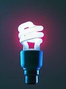 Saving Prints - Energy Saving Light Bulb Print by Tek Image