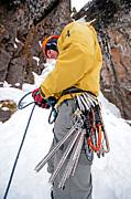Ice Climber Print by Mark Weber