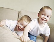 Lifestyle Photo Posters - Identical Twin Boys Poster by Ian Boddy