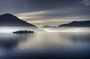 Misty Framed Prints - Lake Maggiore Framed Print by Joana Kruse