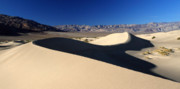 Sand Dunes National Park Prints - Mesquite Sand dunes in Death Valley National park Print by Pierre Leclerc