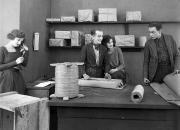 Bobbin Photos - Silent Film Still: Offices by Granger