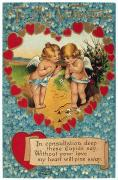Card Of The Holiday Framed Prints - Valentines Day Card Framed Print by Granger
