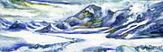 Mckinley Painting Prints - 14000 Ft Print by Margaret Donat