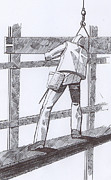 Labor Drawings - 142 The Ironworker Featured by James Robinson