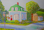 Street Scene Pastels - 149 Lawrence St.Lunenburg by Rae  Smith PSC