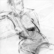 Nude Drawings Prints - RCNpaintings.com Print by Chris N Rohrbach