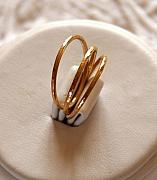 14k Mixed Media - 14k Gold Filled Hammered Stackable Stacking Rings Or Wedding Bands Custom Size by Nadina Giurgiu