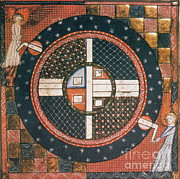 Illustration Art Photos - 14th Century Celestial Illustration by Science Source