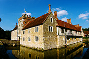 Old England Prints - 14th Century house on the water Print by Stuart Perkins