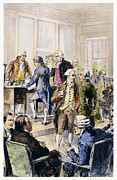 Benjamin Franklin Posters - Declaration Of Independence Poster by Granger