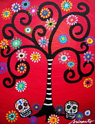 Day Of The Dead Prints - Dia De Los Muertos Print by Pristine Cartera Turkus