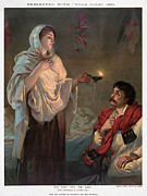 Oil Lamp Drawings Posters - Florence Nightingale  Poster by Granger