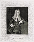 European Artwork Framed Prints - Isaac Newton, English Polymath Framed Print by Science Source