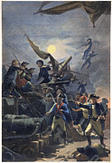 Captain America Framed Prints - John Paul Jones (1747-1792) Framed Print by Granger