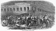 Draft Posters - New York: Draft Riots, 1863 Poster by Granger