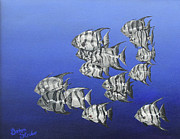 Scuba Paintings - 15 of Spades by Barbara Struber