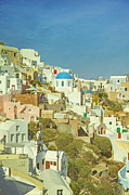 Lucky Metal Prints - Oia - Santorini Metal Print by Joana Kruse