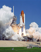 Rocket Boosters Prints - Space Shuttle Atlantis Print by Stocktrek Images